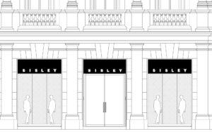 disegno facciata negozio