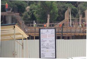 Supervision of new guest house construction in Jordan